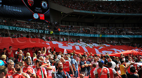 August 6th 2017, Wembley Stadium, London, England; FA Community Shield Final; Arsenal versus Chelsea; Grenfell support prior to kick off