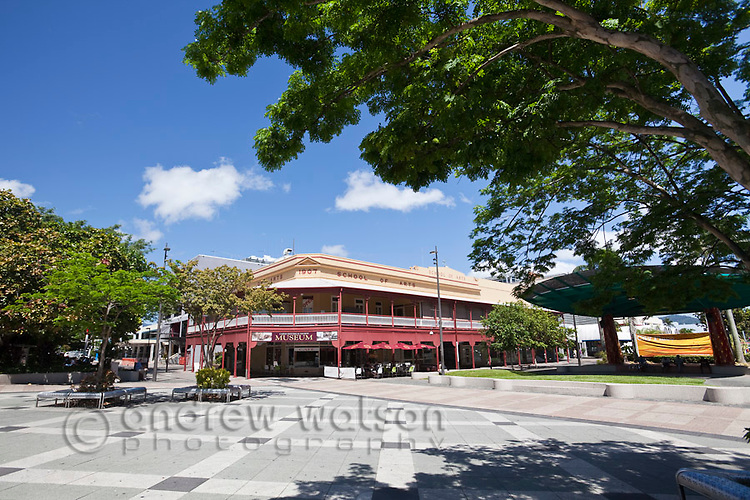 View across City Place to Cairns Museum.  Cairns, Queensland, Australia