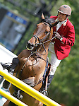 Spain's jockey Luis Cabanas with the horse Irresistible during 102 International Show Jumping Horse Riding, King's College Trophy. May, 20, 2012. (ALTERPHOTOS/Acero)