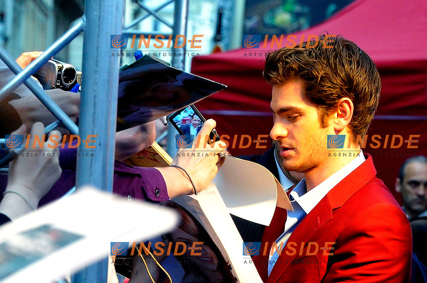 Andrew Garfield.Parigi 19/6/2012 .The Amazing Spider Man - Premiere.Foto Insidefoto / Gerard Roussel / Panoramic.ITALY ONLY