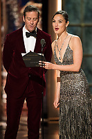Armie Hammer and Gal Gadot on stage at The 90th Oscars&reg; at the Dolby&reg; Theatre in Hollywood, CA on Sunday, March 4, 2018.<br /> *Editorial Use Only*<br /> CAP/PLF/AMPAS<br /> Supplied by Capital Pictures