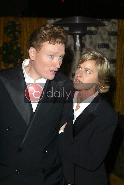 Conan O'Brien and Ellen Degeneres