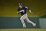 21 September 2012: Milwaukee Brewers outfielder Ryan Braun on the base path during a game against the Washington Nationals at Nationals Park in Washington, DC. The Brewers rallied in the 9th inning to defeat the Nationals 4-2 in the first game of their 4-game series. Mandatory Credit: Ed Wolfstein Photo
