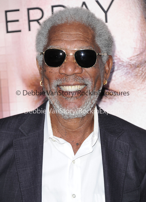 """Morgan Freeman attends The L.A. Premiere of Alcon Entertainment's """"TRANSCENDENCE"""" held at The Regency Village Theater in Westwood, California on April 10,2014                                                                               © 2014Hollywood Press Agency"""