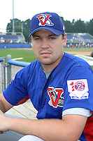 August 16, 2003:  Jeff Dixon of the Vermont Expos during a game at Dwyer Stadium in Batavia, New York.  Photo by:  Mike Janes/Four Seam Images