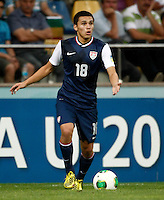 USA's Oscar Sorto during their FIFA U-20 World Cup Turkey 2013 Group Stage Group A soccer match Ghana betwen USA at the Kadir Has stadium in Kayseri on June 27, 2013. Photo by Aykut AKICI/isiphotos.com