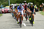 The 20 man breakaway group in action during Stage 19 of the 104th edition of the Tour de France 2017, running 222.5km from Embrun to Salon-de-Provence, France. 21st July 2017.<br /> Picture: ASO/Alex Broadway | Cyclefile<br /> <br /> <br /> All photos usage must carry mandatory copyright credit (&copy; Cyclefile | ASO/Alex Broadway)