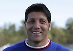 Tony Meola, who is scheduled to earn his 100th cap, or international appearance, talks with the press on Monday, April 10th, 2006 at SAS Stadium in Cary, North Carolina. The United States Men's National Team practiced the day before playing an international friendly against Jamaica.