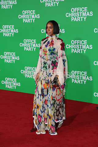 WESTWOOD, CA - DECEMBER 07: Kelly Rowland arrives at the premiere of Paramount Pictures' 'Office Christmas Party' at Regency Village Theatre on December 7, 2016 in Westwood, California.  (Credit: Parisa Afsahi/MediaPunch).