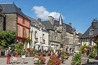 France, Morbihan, Rochefort en Terre, labelled Les Plus Beaux Villages de France (The Most Beautiful Villages of France), Place du Puits // France, Morbihan (56), Rochefort-en-Terre, labellisé Les Plus Beaux Villages de France, place du Puits