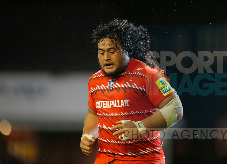 Logovi'i Mulipola in action for Leicester Tigers - Rugby Union - Leicester Tigers vs Cardiff Blues - pre-season friendly - Welford Road Leicester - 29th August 2014 - Picture - Malcolm Couzens/Sportimage