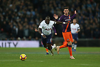 Aymeric Laporte of Manchester City fouls Moussa Sissoko of Tottenham Hotspur during Tottenham Hotspur vs Manchester City, Premier League Football at Wembley Stadium on 29th October 2018