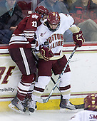 Chris Davis (UMass - 11), Edwin Shea (BC - 8) - The Boston College Eagles defeated the University of Massachusetts-Amherst Minutemen 2-1 (OT) on Friday, February 26, 2010, at Conte Forum in Chestnut Hill, Massachusetts.