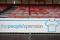General view of People's Pension signage during Brighton & Hove Albion Women vs Arsenal Women, Barclays FA Women's Super League Football at Broadfield Stadium on 12th January 2020