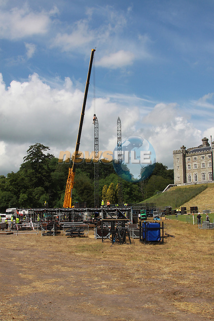 As preperations for the Oasis Concert in Slane Castle are well underway Lord Henry Mt Charles is enjoying the baking sunshine in his County Meath estate. .Pic: Fran Caffrey/www.newsfile.ie