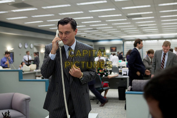 Leonardo DiCaprio<br /> in The Wolf of Wall Street (2013) <br /> *Filmstill - Editorial Use Only*<br /> CAP/NFS<br /> Image supplied by Capital Pictures