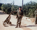 Lebanon 1980  .Azad Sagerma with a B10 anti-tank.<br /> Liban 1980.Azad sagerma avec un B10 anti-aerien