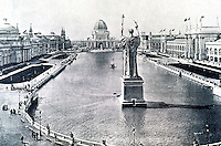 Burnham Plan:  Columbian Exposition, Chicago--Grand Basin and Court of Honor.  Plan by D. H. Burnham. Photo '77.
