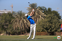 Chris Wood (ENG) during the Final Round of the 2016 Omega Dubai Desert Classic, played on the Emirates Golf Club, Dubai, United Arab Emirates.  07/02/2016. Picture: Golffile | David Lloyd<br /> <br /> All photos usage must carry mandatory copyright credit (&copy; Golffile | David Lloyd)