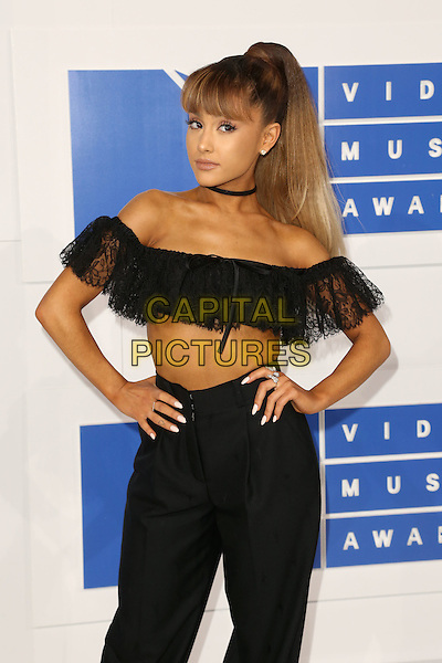 NEW YORK - AUGUST 28: Ariana Grande arrives at the 2016 MTV Video Music Awards at Madison Square Garden on August 28, 2016 in New York City.<br /> CAP/MPI99<br /> &copy;MPI99/Capital Pictures