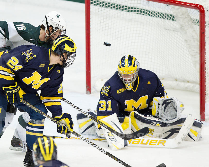 University of Michigan ice hockey 4-3 overtime loss to Michigan State at Munn Ice Arena in East Lansing, MI, on January 7, 2011.
