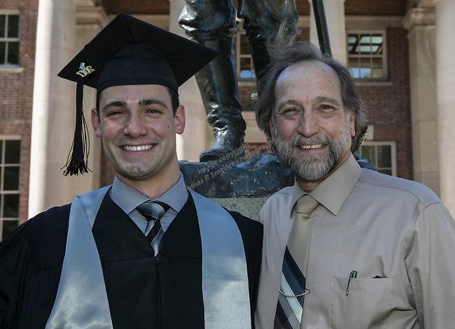Skylar, left,  and dad Hendrick  Van Rensselaer during the University of Nevada College of Engineering, College of Science and Orvis School of Nursing graduation ceremony on Thursday evening, May 18, 2017.