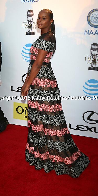 LOS ANGELES - FEB 5:  Tika Sumpter at the 47TH NAACP Image Awards Arrivals at the Pasadena Civic Auditorium on February 5, 2016 in Pasadena, CA