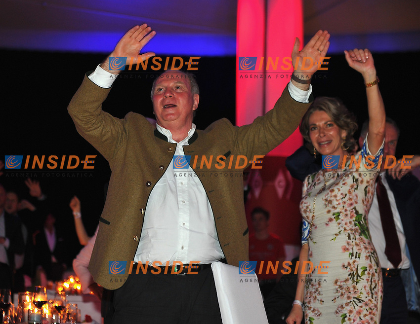10.05.2014, Postpalast, Muenchen, GER, 1. FBL, FC Bayern Muenchen Meisterfeier, im Bild Uli Hoeness, former president of FC Bayern Muenchen dances Uli Hoeness, // during official Championsparty of Bayern Munich at the Postpalast in Muenchen, Germany on 2014/05/11. EXPA Pictures &copy; 2014, PhotoCredit: EXPA/ Eibner-Pressefoto/ EIBNER<br /> <br /> *****ATTENTION - OUT of GER***** <br /> Football Calcio 2013/2014<br /> Bundesliga 2013/2014 Bayern Campione Festeggiamenti <br /> Foto Expa / Insidefoto