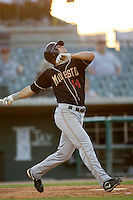 May 31 2009: Brian Rike of the Modesto Nuts during game against the Lancaster JetHawks at Clear Channel Stadium in Lancaster,CA.  Photo by Larry Goren/Four Seam Images
