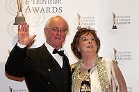 12/2/11 Krank and Baibre Kelly on the red carpet at the 8th Irish Film and Television Awards at the Convention centre in Dublin. Picture:Arthur Carron/Collins