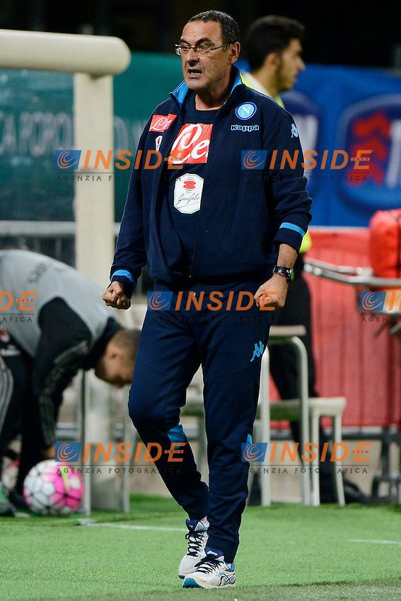 Esultanza Maurizio Sarri Napoli a fine gara<br /> Milano 4-10-2015 Stadio Giuseppe Meazza - Football Calcio Serie A Milan - Napoli. Foto Giuseppe Celeste / Insidefoto