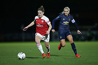 Kim Little of Arsenal and Alex Greenwood of Manchester Utd during Arsenal Women vs Manchester United Women, FA WSL Continental Tyres Cup Football at Meadow Park on 7th February 2019