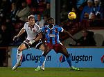 James McEveley of Sheffield Utd tackles \s1- English League One - Scunthorpe Utd vs Sheffield Utd - Glandford Park Stadium - Scunthorpe - England - 19th December 2015 - Pic Simon Bellis/Sportimage