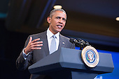 United States President Barack Obama participates in a Young African Leaders Initiative (YALI) town hall at the Omni Shoreham Hotel in Washington, DC. August 3, 2016. <br /> Credit: Chris Kleponis / Pool via CNP