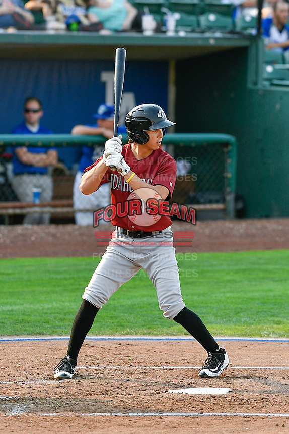 Manny Olloque (11) of the Idaho Falls Chukars at bat against the Ogden Raptors in Pioneer League action at Lindquist Field on September 3, 2016 in Ogden, Utah. The Chukars defeated the Raptors 3-0. (Stephen Smith/Four Seam Images)