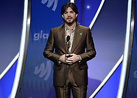 BEVERLY HILLS, CA - MARCH 28:  Adam Lambert at the 30th Annual GLAAD Media Awards at the Beverly Hilton on March 28, 2019 in Beverly Hills, California. (Photo by Frank Micelotta/PictureGroup)