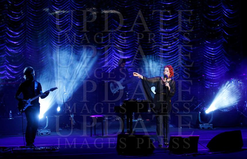 La cantante Noemi in concerto all'Auditorium Parco della Musica, Roma, 1 agosto 2012.<br /> Italian singer Noemi performs during her concert at Rome's Auditorium, 1 August 2012.<br /> UPDATE IMAGES PRESS/Isabella Bonotto