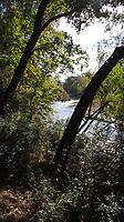 NWA Democrat-Gazette/FLIP PUTTHOFF <br />Trees along the War Eagle Trail      Oct. 18 2019    frame the shimmering stream.