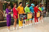 Thais tend to dress cool and casual, thanks to the hot and humid weather.  Though shorts, sandals and T shirts are very much seen these days, many Thai designers are making their mark on the world scene.  Nevertheless, the sheer variety of street togs is intriguing.  From the humble indigo of the street vendor to the high heeled catwalk the variety of Thai clothing and styles is almost always has a touch of colour, whimsy or fun. As the Thais say, if it's not fun, it's not worth doing.