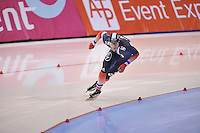 SCHAATSEN: SALT LAKE CITY: Utah Olympic Oval, 16-11-2013, Essent ISU World Cup, 1000m, Benjamin Macé (FRA), ©foto Martin de Jong