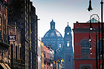 Mexico, Mexico City, Emiliano Zapata Street, Pedestrian Way, Iglesia de la Santisima Trinidad<br />