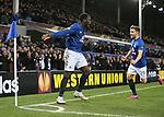Romelu Lukaku of Everton celebrates his second goal - UEFA Europa League Round of 32 Second Leg - Everton vs Young Boys - Goodison Park Stadium - Liverpool - England - 26th February 2015 - Picture Simon Bellis/Sportimage