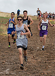 Sierra Lutheran's Richard McNeely (42) leads a group of runners in the 2A/1A 5K during the Northern Nevada Regional Cross Country meet at Shadow Mountain Park on Friday, October 28, 2016.