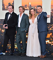 """LOS ANGELES, USA. July 23, 2019: Quentin Tarantino, Brad Pitt, Margot Robbie & Leonardo DiCaprio at the premiere of """"Once Upon A Time In Hollywood"""" at the TCL Chinese Theatre.<br /> Picture: Paul Smith/Featureflash"""
