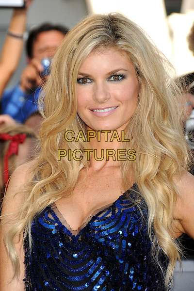 """MARISA MILLER .""""The Twilight Saga: Eclipse"""" Los Angeles Premiere at the 2010 Los Angeles Film Festival held at Nokia Theatre LA Live, Los Angeles, California, USA, 24th June 2010..portrait headshot smiling make-up blue sequined sequin sparkly black cleavage .CAP/ADM/BP.©Byron Purvis/AdMedia/Capital Pictures."""
