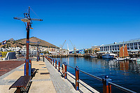 The Victoria & Alfred Waterfront in the harbour of Cape Town, South Africa.