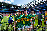 Michael Potts and Cian Gammell Kerry players celebrate after defeating Derry in the All-Ireland Minor Footballl Final in Croke Park on Sunday.
