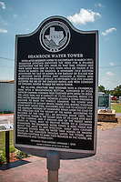 The Shamrock water tower built in 1915 and is the tallest water tower of it's class in Texas and is a Texas Historical Landmark.