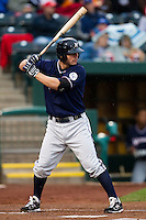 Jamie Romak (26) of the Northwest Arkansas Naturals at bat during a game against the Springfield Cardinals on May 13, 2011 at Hammons Field in Springfield, Missouri.  Photo By David Welker/Four Seam Images.