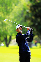 Joshua Ho (Singapore) on day one of the 2017 Asia-Pacific Amateur Championship day one at Royal Wellington Golf Club in Wellington, New Zealand on Thursday, 26 October 2017. Photo: Dave Lintott / lintottphoto.co.nz